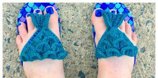 Mermaid Flip Flops Free Crochet Pattern