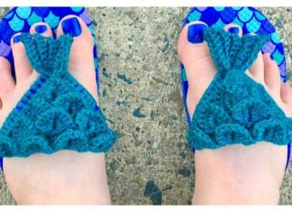 Mermaid Flip Flops Free Crochet Pattern
