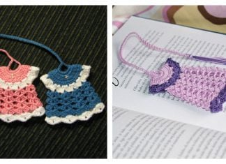Mini Dress Bookmark Free Crochet Pattern
