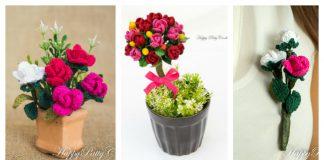 Mini Stem Rose Free Crochet Pattern