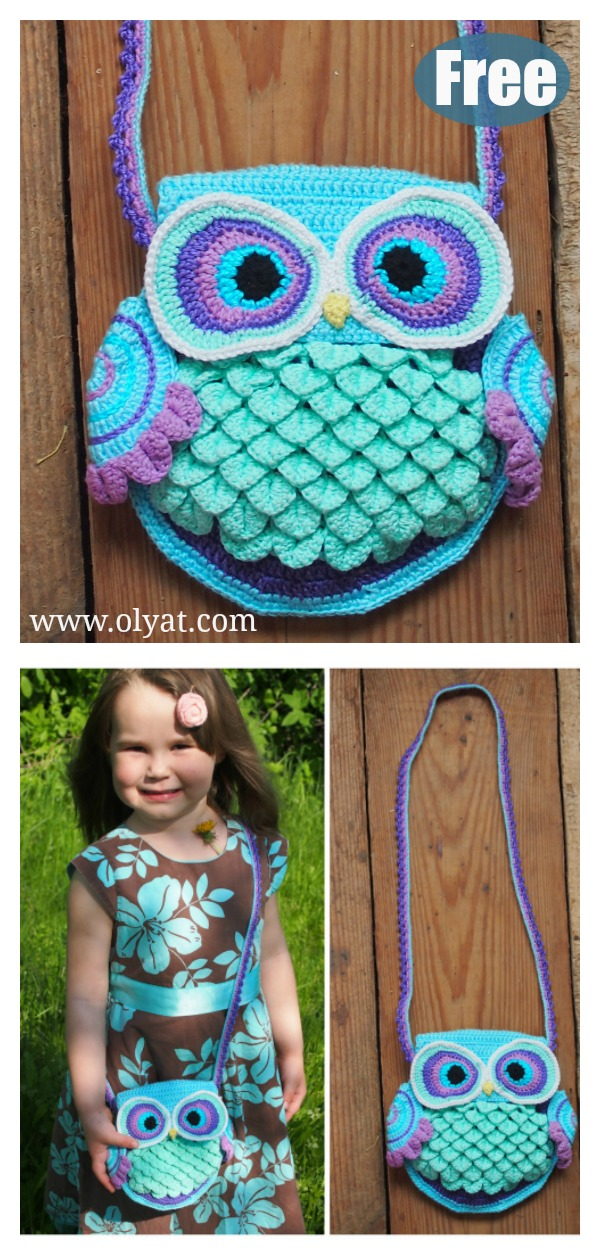 Owl Purse Free Crochet Pattern