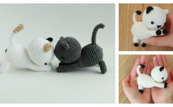 Playing Cat Amigurumi Free Crochet Pattern