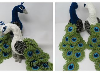 Regal the Peacock Amigurumi Free Crochet Pattern and Video Tutorial