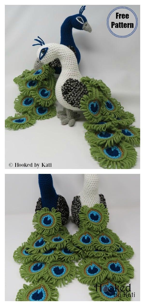 Regal the Peacock Amigurumi Free Crochet Pattern and Video Tutorial