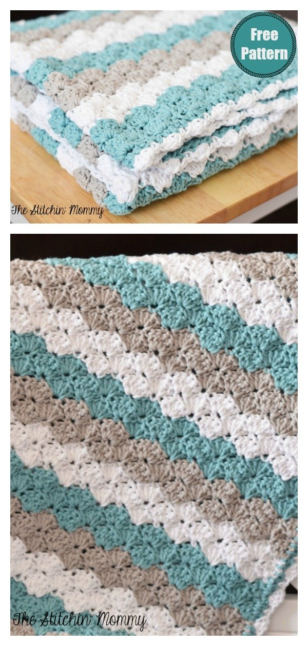 Shell Stitch Baby Blanket Free Crochet Pattern
