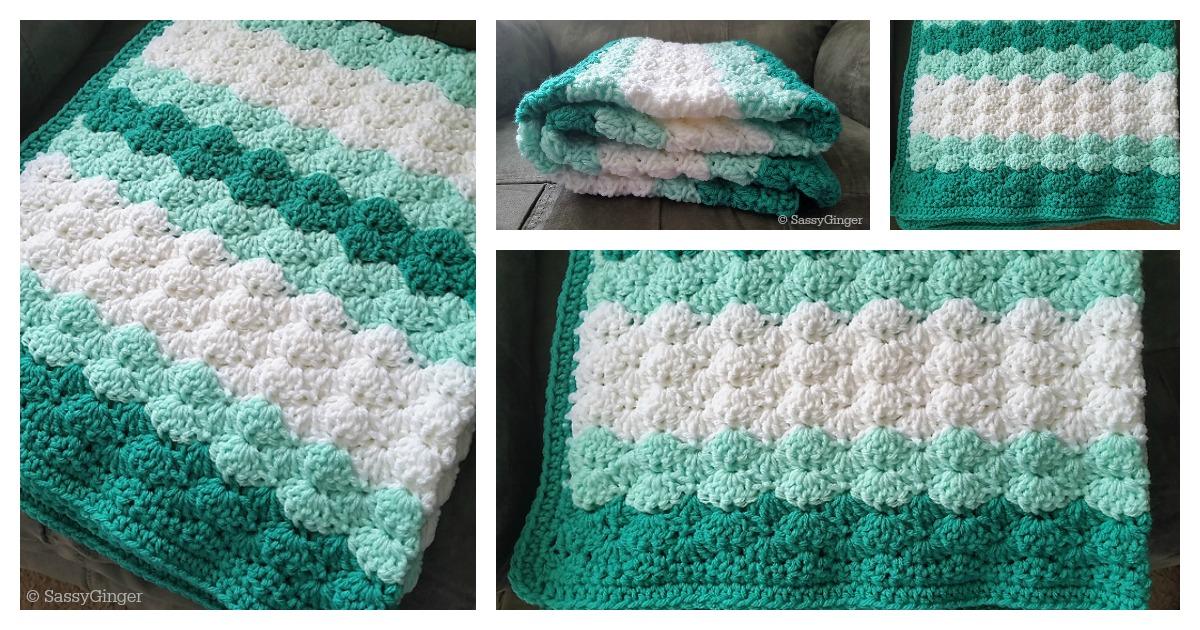 5 Shell Stitch Baby Blanket Free Crochet Pattern