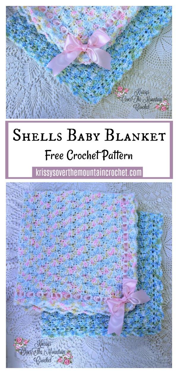 Shells Baby Blanket Free Crochet Pattern