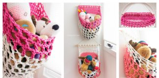 T Shirt Yarn Hanging Basket Free Crochet Pattern