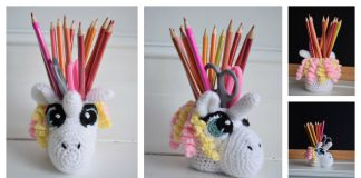 Unicorn Jar Cover Free crochet pattern