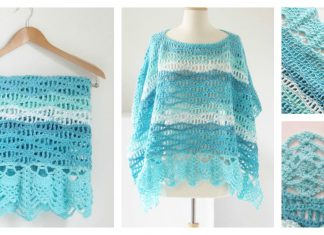Wave Stitch Lace Poncho Free Crochet Pattern