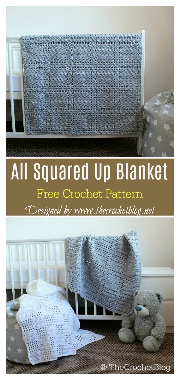 All Squared Up Baby Blanket Free Crochet Pattern