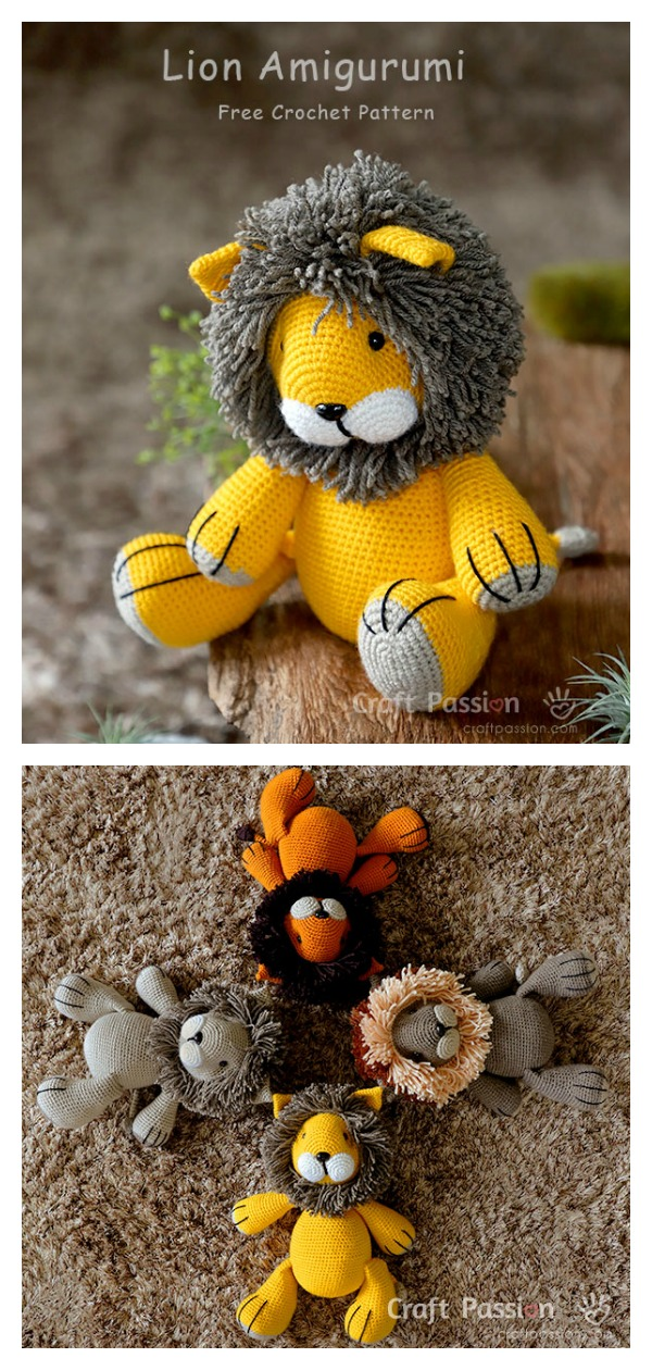 Cedric the Lion Crochet Kit by Wool Couture | 1260x600
