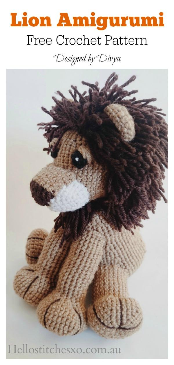 Amigurumi Lion Toy Free Crochet Pattern