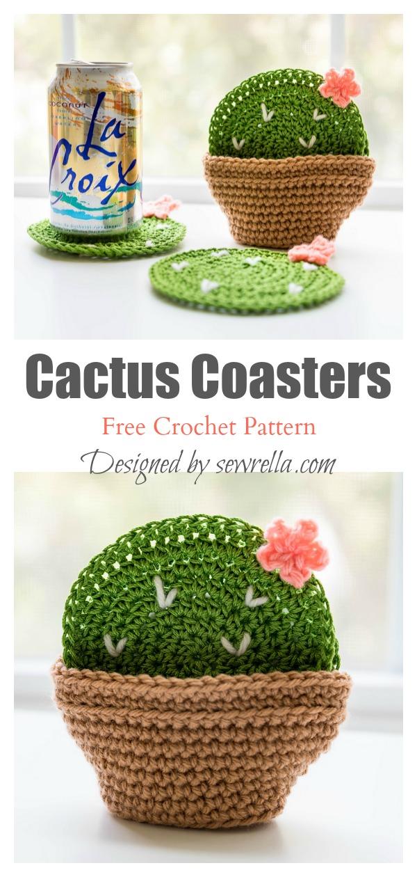 Cactus Coasters Free Crochet Pattern