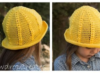 Daffodil Sunhat Free Crochet Pattern