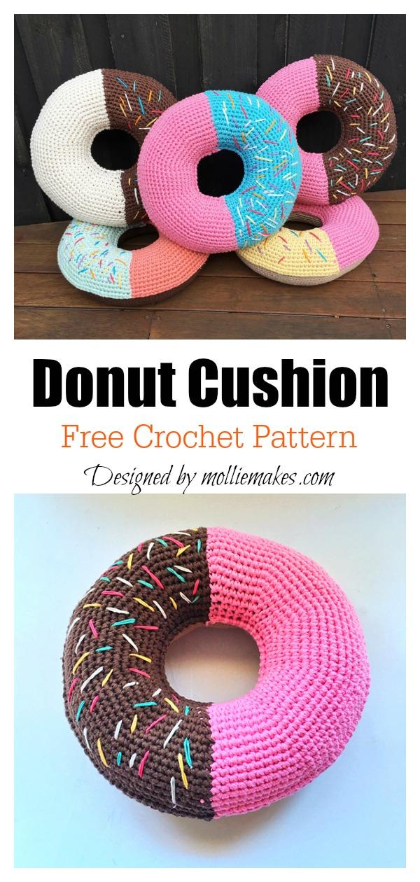 Donut Cushion Free Crochet Pattern
