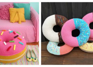 Donut Cushion Free Crochet Pattern