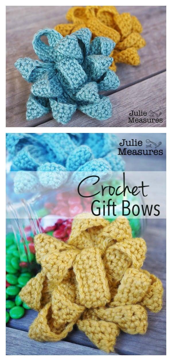 Easy Gift Bow Free Crochet Pattern