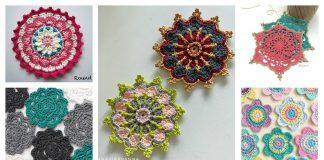 Flower Coaster Free Crochet Pattern