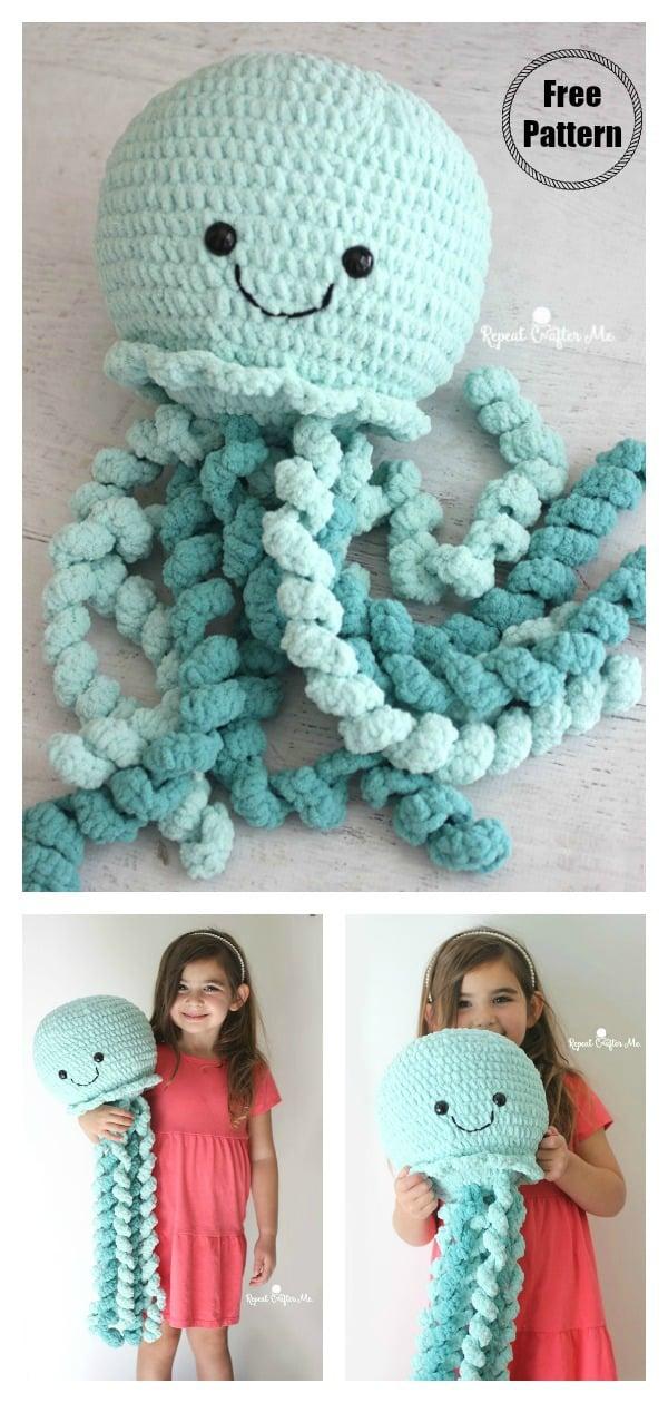 Giant Jellyfish Free Crochet Pattern