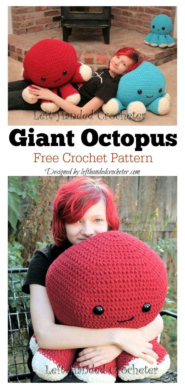 Giant Octopus Free Crochet Pattern