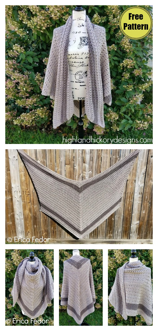 Grand Canyon Shawl Free Crochet Pattern