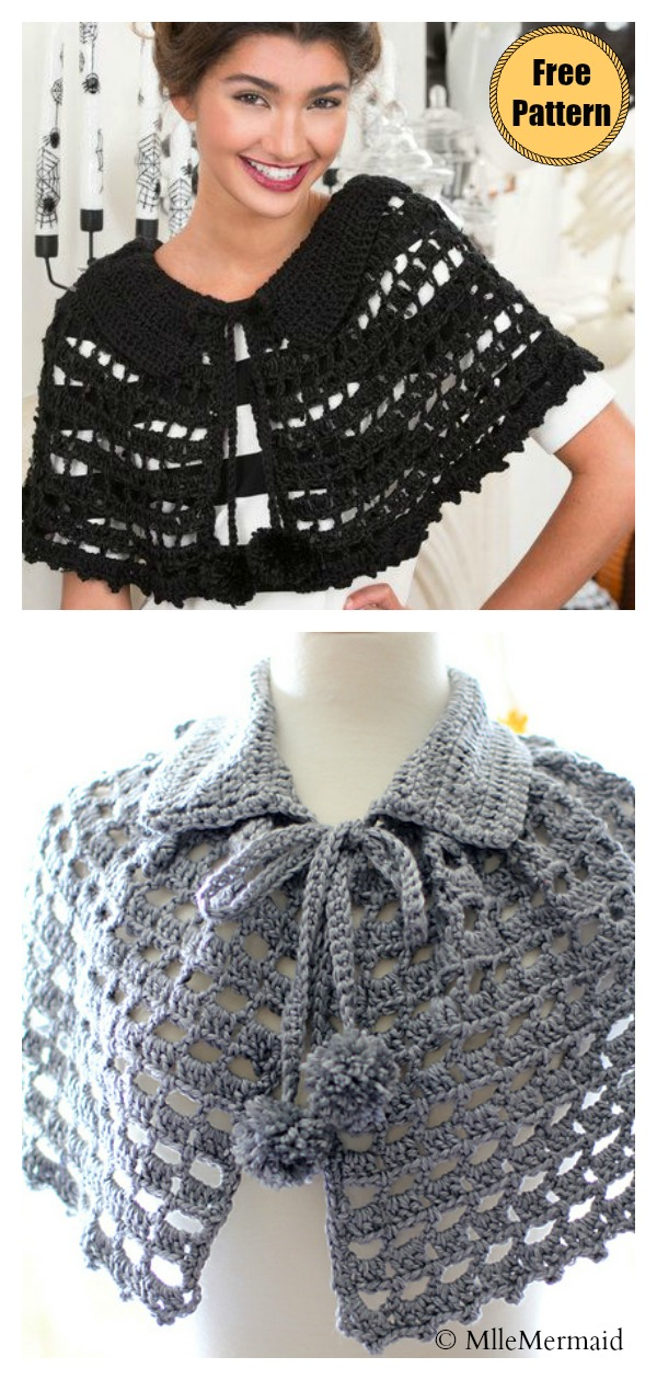 Lace Mystical Cape Free Crochet Pattern