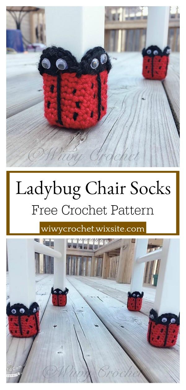 Ladybug Chair Socks Free Crochet Pattern
