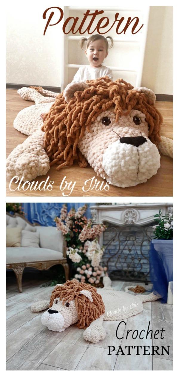 Lion Mat Crochet Pattern