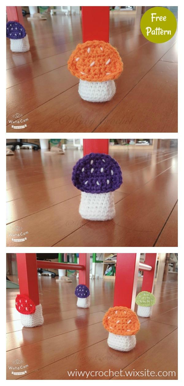 Mushroom Chair Socks Free Crochet Pattern