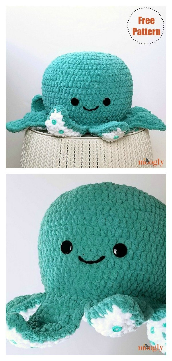 móhu — amigurumi octopus pattern This simple amigurumi... | 1260x600