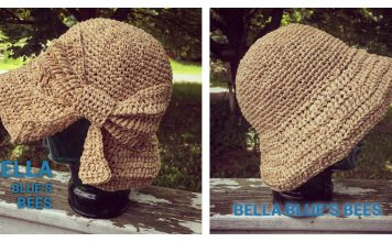 Raffia Sun Hat Free Crochet Pattern