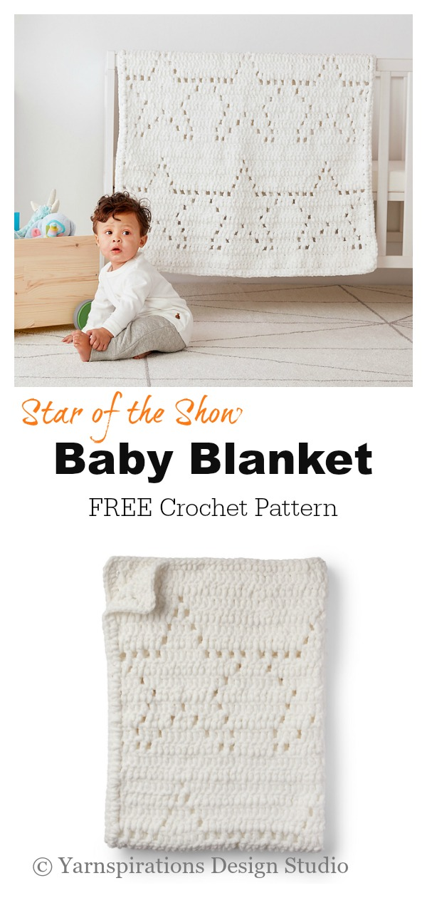 Star of the Show Baby Blanket Free Crochet Pattern