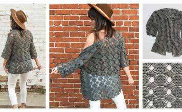 The Webwork Cardigan Sweater Free Crochet Pattern