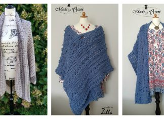 V Shaped Shawl Free Crochet Pattern