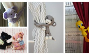Amigurumi Animal Curtain Tie Crochet Pattern