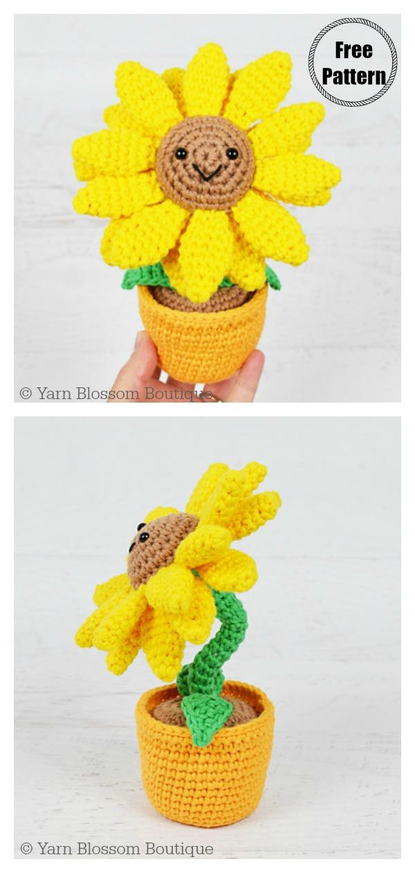 Amigurumi Potted Sunflower Free Crochet Pattern