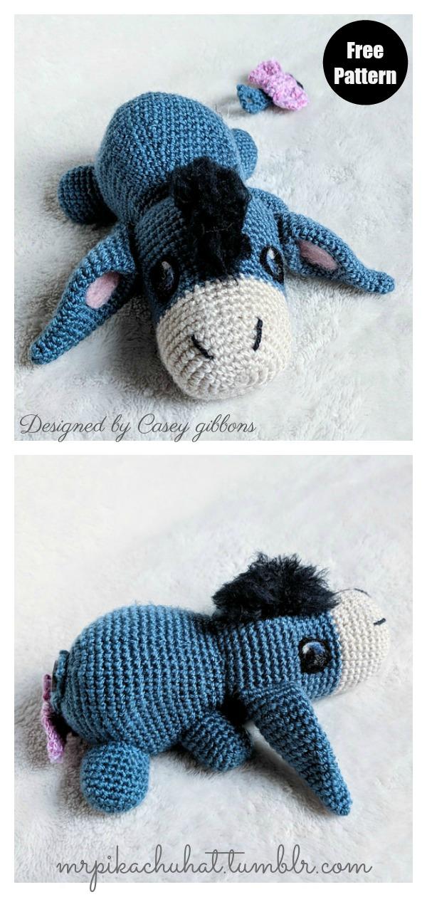 Donkey Ruda Amigurumi Crochet Pattern | 1260x600