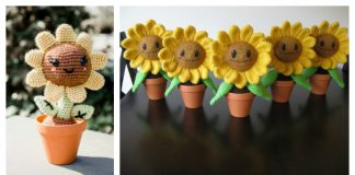 Amigurumi Sunflower Free Crochet Pattern