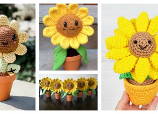 Amigurumi Sunflower Free Crochet Pattern
