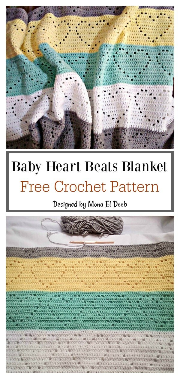 Baby Heart Beats Blanket Free Crochet Pattern