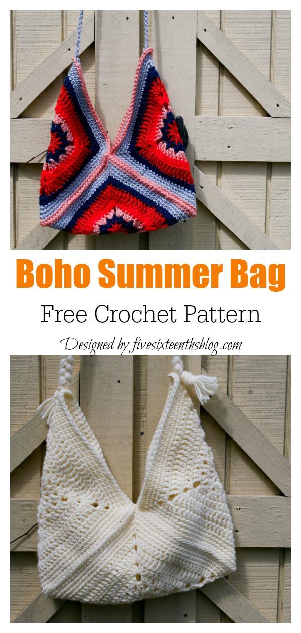 Boho Summer Bag Free Crochet Pattern