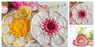 Daisy Flower Dishcloth Free Crochet Pattern