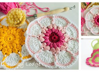 Daisy Flower Dishcloth Free Crochet Pattern
