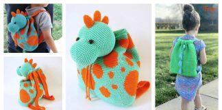 Dino Kids Backpack Crochet Pattern