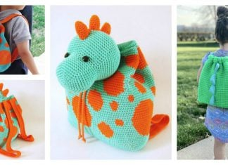 Dino Kids Backpack Crochet Pattern