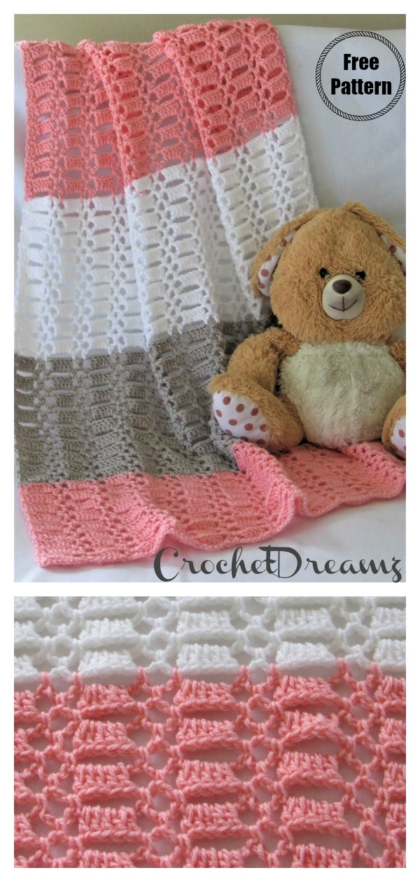 Easy Crochet Lace Baby Blanket Free Pattern