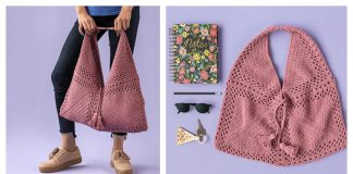 Easy Tote Bag Made with Squares Free Crochet Pattern
