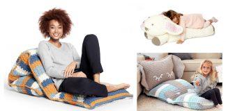 Floor Pillow Lounger Floor Cushion Free Crochet Pattern