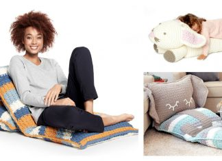Floor Pillow Lounger Floor Cushion Free Crochet Pattern
